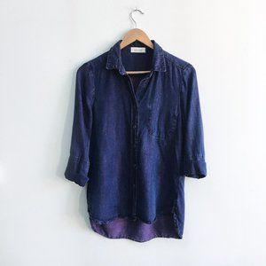 Bella Dahl purple chambray shirt - size xs